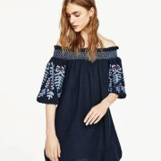 DR057 Bohemian Drop shoulder dress